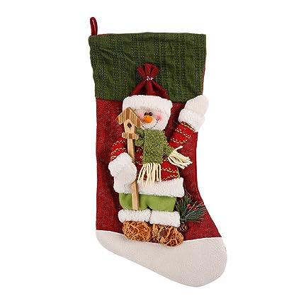 fa535f3278f Torubia 23 x 45cm Christmas Stockings Xmas Fireplace Personalized Stocking  Christmas Decorations or Family Holiday Decor