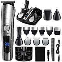 Etereauty 14 in 1 Cordless Electric Shaver with 6 Trimmer Head