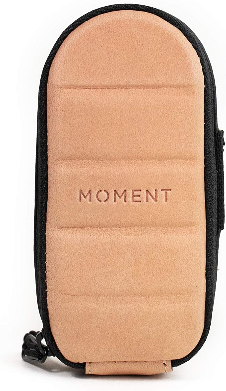 Leather Moment Dual Mobile Lens Pouch