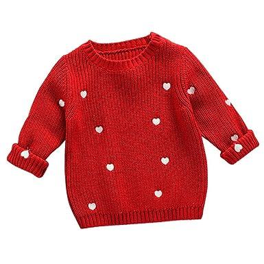Pullover Kleinkind Mädchen Jungen Kinder Baby Pullover Stricken Pullover Warmen Mantel Oberbekleidung Kleidung Jungen Kleidung