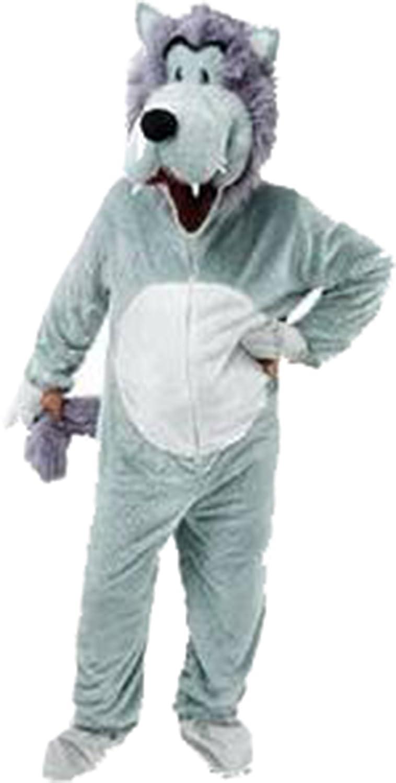 Luxus Erwachsene Wolf Großer Kopf Kostüm Maskottchen Animal Märchen Outfit