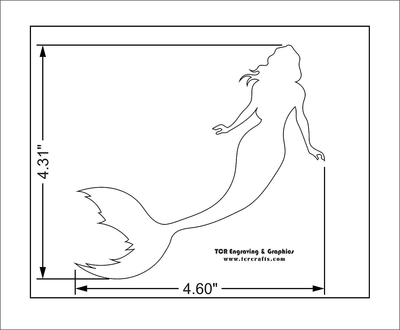 Mermaid Stencil-14 Mil Mylar 5 x 7 Painting//Crafts//Templates