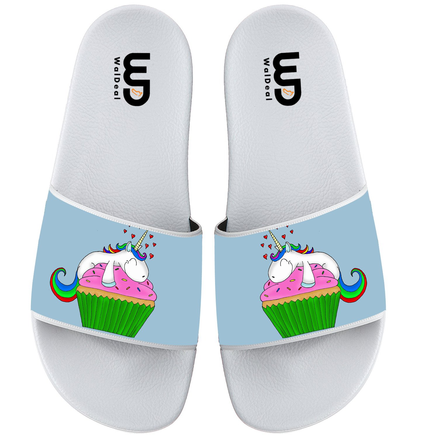 Cartoon Cute Cupcake Unicorn Summer Slide Slippers For Boy Girl Outdoor Beach Sandal Shoes size 12