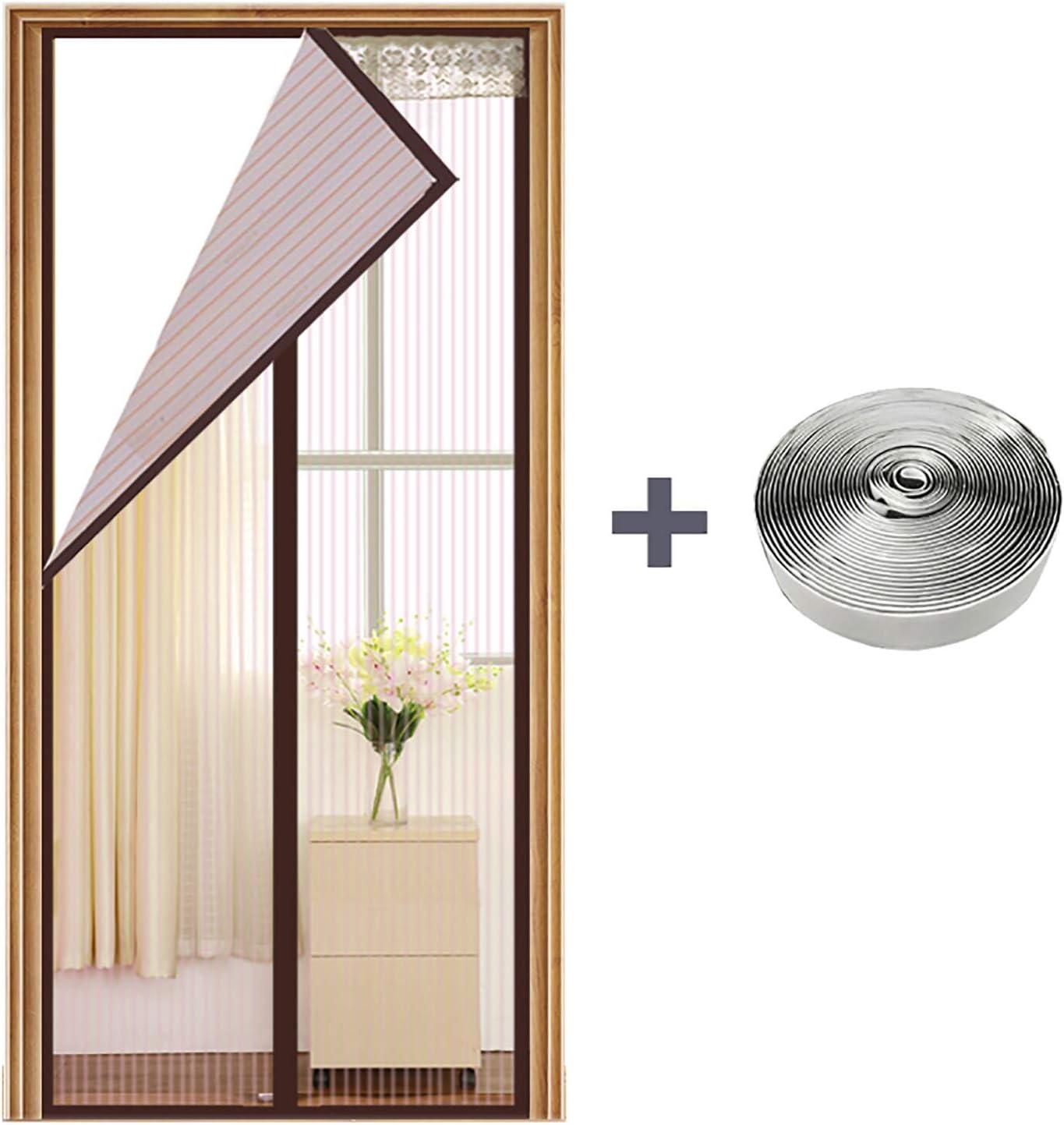 AQAWAS Puertas de pantalla con imanes, cortina de malla magnética con cierre automático para puerta francesa, puerta de cristal, puerta de patio: Amazon.es: Bricolaje y herramientas