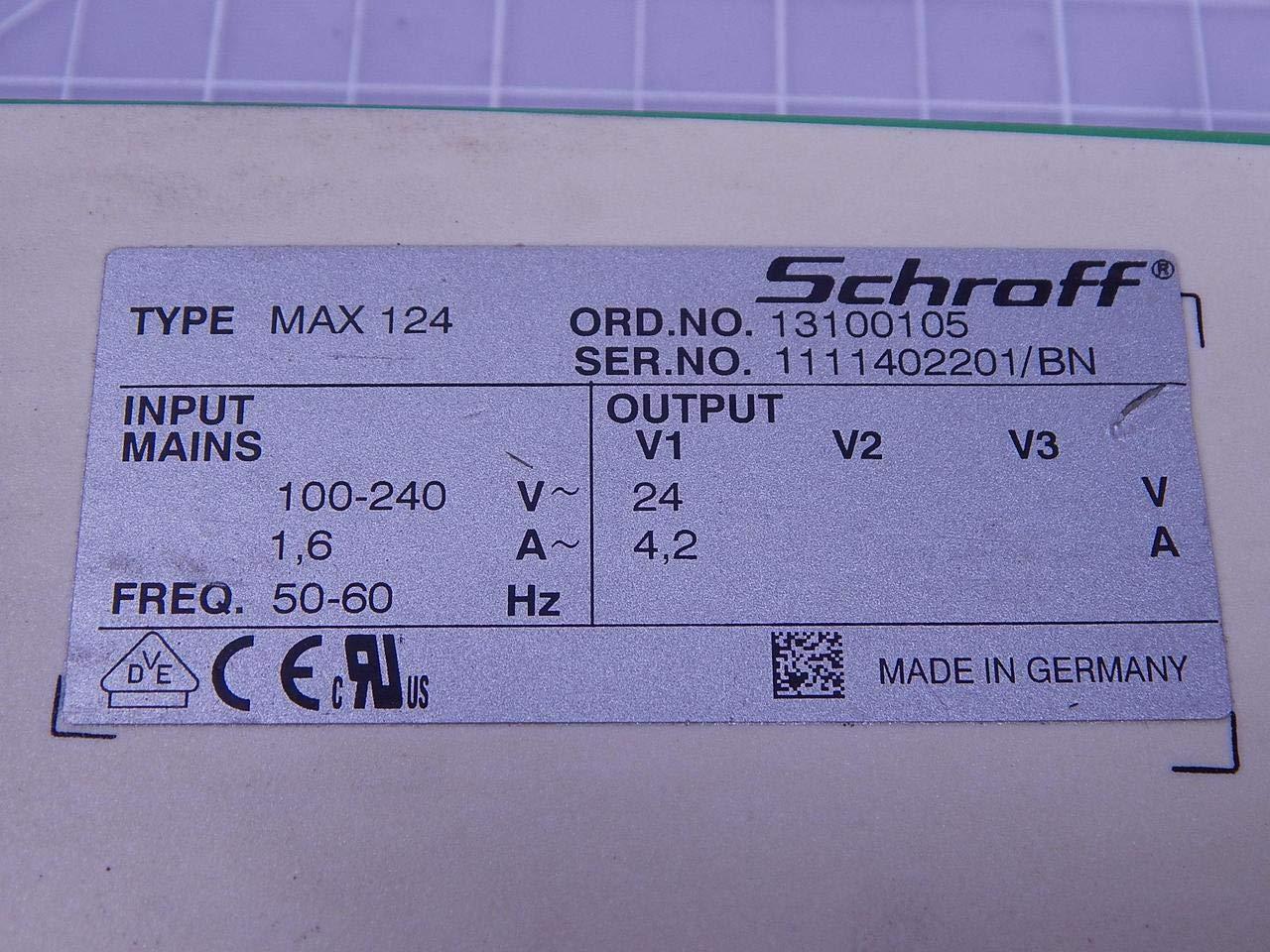Schroff MAX 124 13100105 Switch-Mode Power Supply T138415