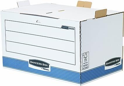 Bankers Box System - Contenedor de archivos de acceso frontal, azul: Amazon.es: Oficina y papelería