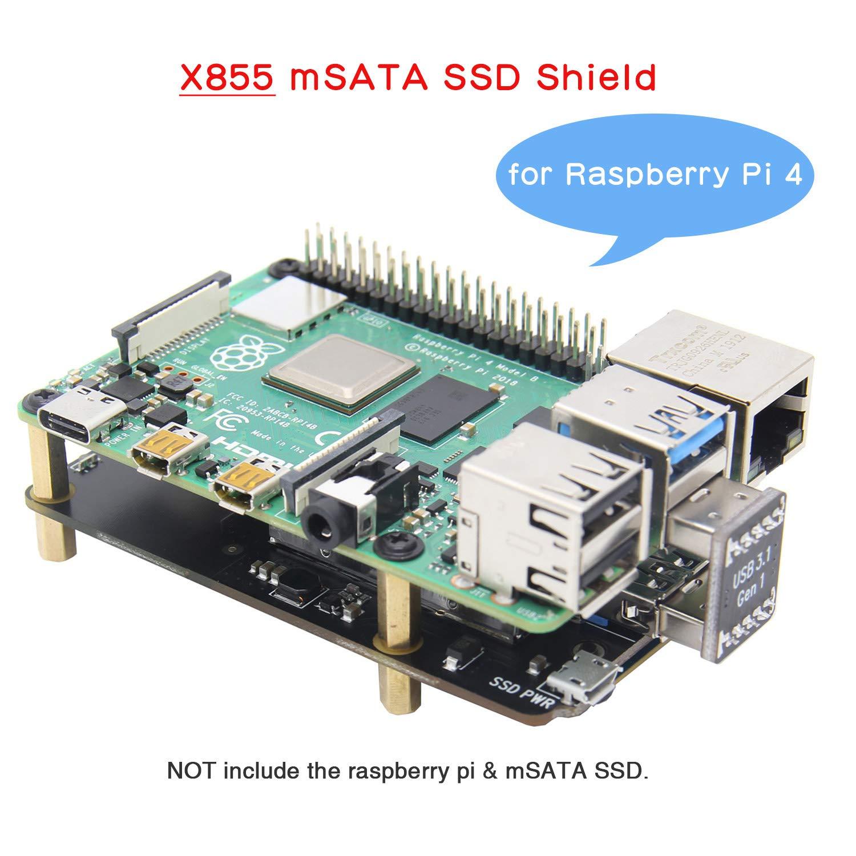 Geekworm Raspberry Pi 4 mSATA Placa Raspberry Pi Modelo B ...