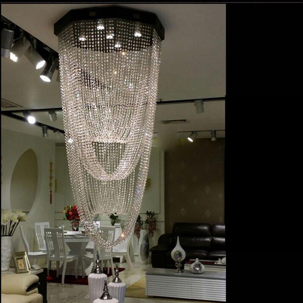 YOUZHENGJIA D23.62'' X H63'' Modern Crystal Chandelier Creative Design Ceiling Light Fixture by YOUZHENGJIA