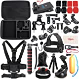 SUREWO Outdoor Sports Accessories Kit for Gopro Hero 6/5/4 Black Hero 5/4 Session 4 Silver 3+ SJ4000/5000/6000 Xiaomi Yi and Sony Sports Dv and More(33 Items)