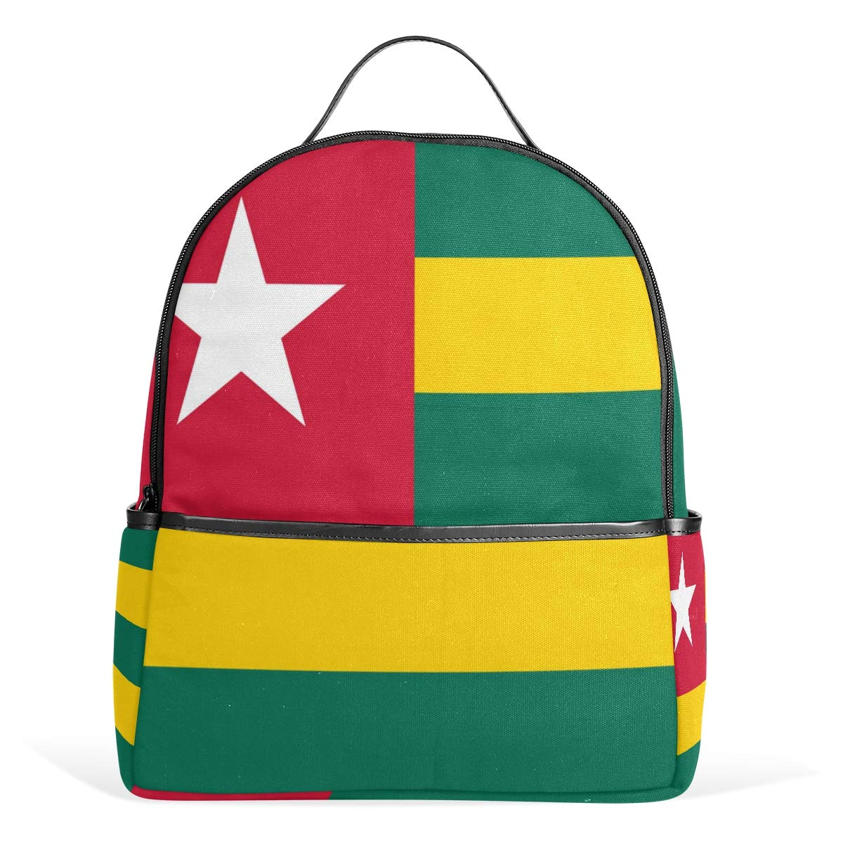 Backpack Cute for School Travel Laptop | 12.6\'x5\'x14.8\' Togo Flag