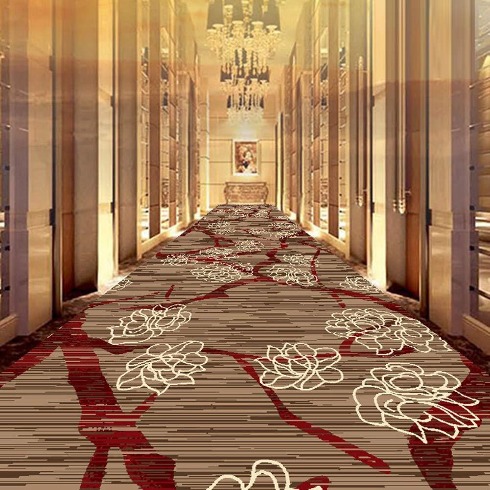WUFENG 廊下敷きカーペッ レトロ 花柄 カスタマイズ可能 滑り止め カーペット リビングルーム 通路 吸音 ラグ (色 : A, サイズ さいず : 1.1x10m) B07S6NLYFG A 1.1x10m