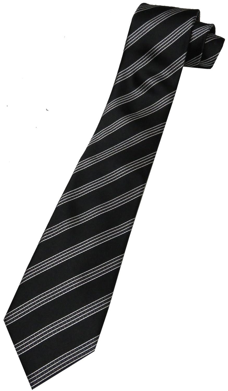 Donald Trump Neck Tie Black and Silver Striped