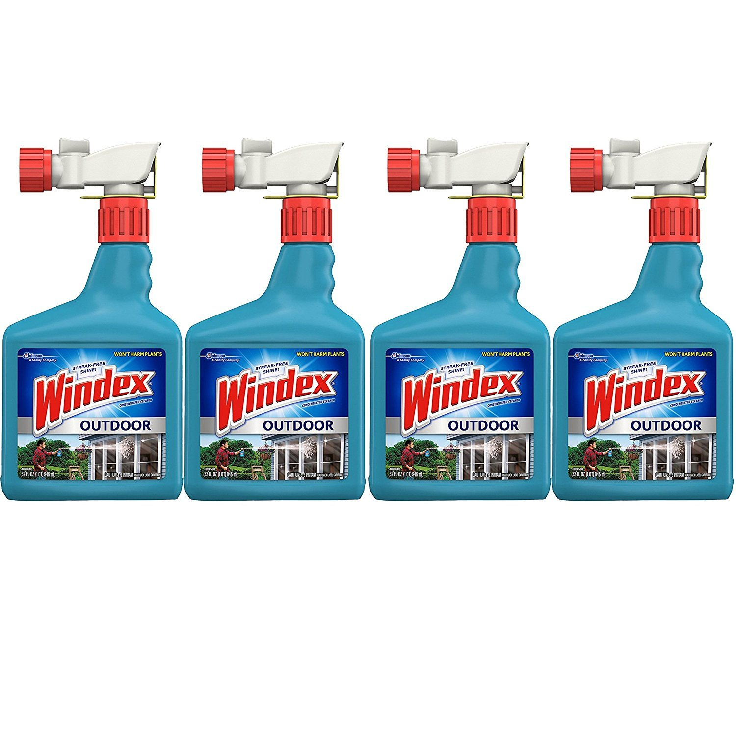 Windex Outdoor Glass and Patio Concentrated Cleaner, 32 Ounce, (Packaging may vary), 4-Pack