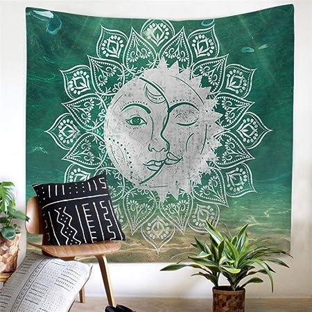 Rjjdd Palmera Forma de Luna Sol Mandala Grande Tapicería ...