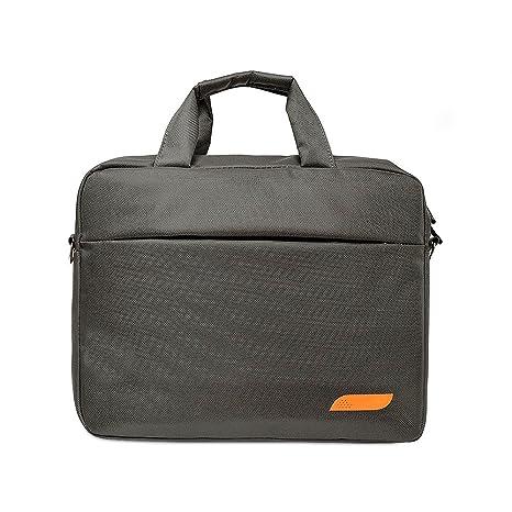 Jia Hu - 1 maletín de nailon para ordenador portátil, bandolera impermeable, correa de