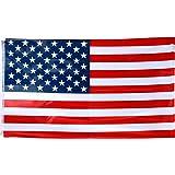 TRIXES Grande bandiera americana a stelle e strisce, 5 piedi x 3 piedi (150 cm x 90 cm c.ca) bandiera per eventi sportivi, per il 4 luglio.