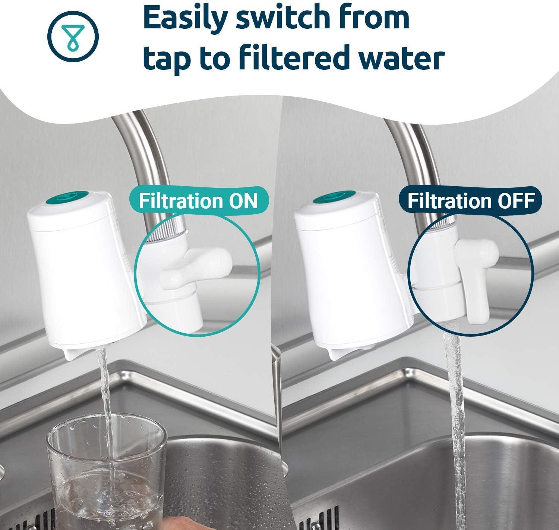 TAPP Water TAPP 2 Click - Filtro de Agua para Grifo Inteligente, con función Bluetooth. Elimina el Mal Sabor y Olor. Filtra más de 80 contaminantes: Cloro, Plomo, microplásticos, oxido, pesticidas: Amazon.es: Hogar