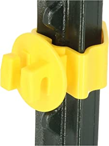 Zareba Woodstream YTP25N 25 Count T-Post Insulators, Yellow