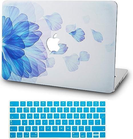 w// UK Keyboard Cover Plastic Hard Shell A2289//A2251 Touch Bar 2020 KECC MacBook Pro 13 Case Flower 7