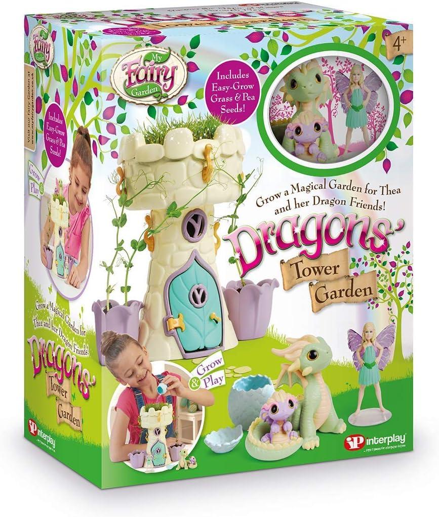 My Fairy Garden FG408 Dragon's Tower Garden Dollhouse Dolls & Accessories, Multi