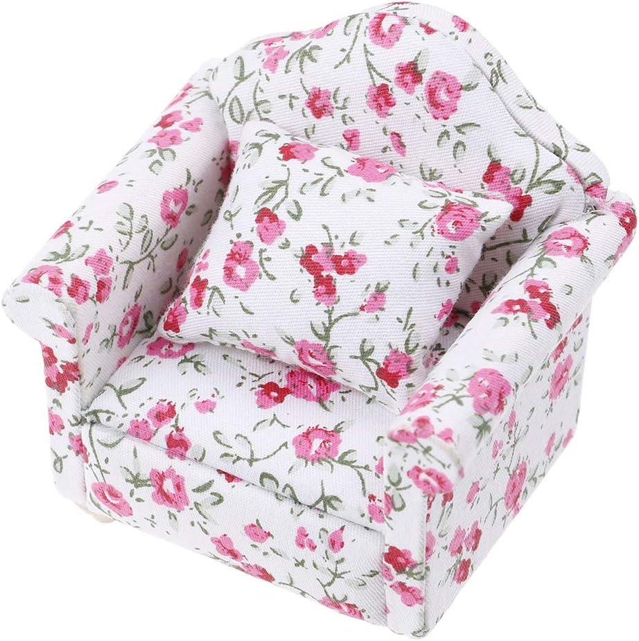 LIGONG 1:12 Miniature Dollhouse Sofa Arm Chair Furniture for Doll House Baby Toy