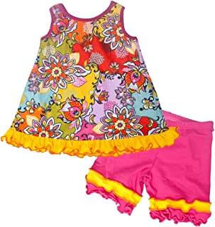 product image for Cheeky Banana Little Girls Crescendo Swing top & Shorts Hot Pink/Multi