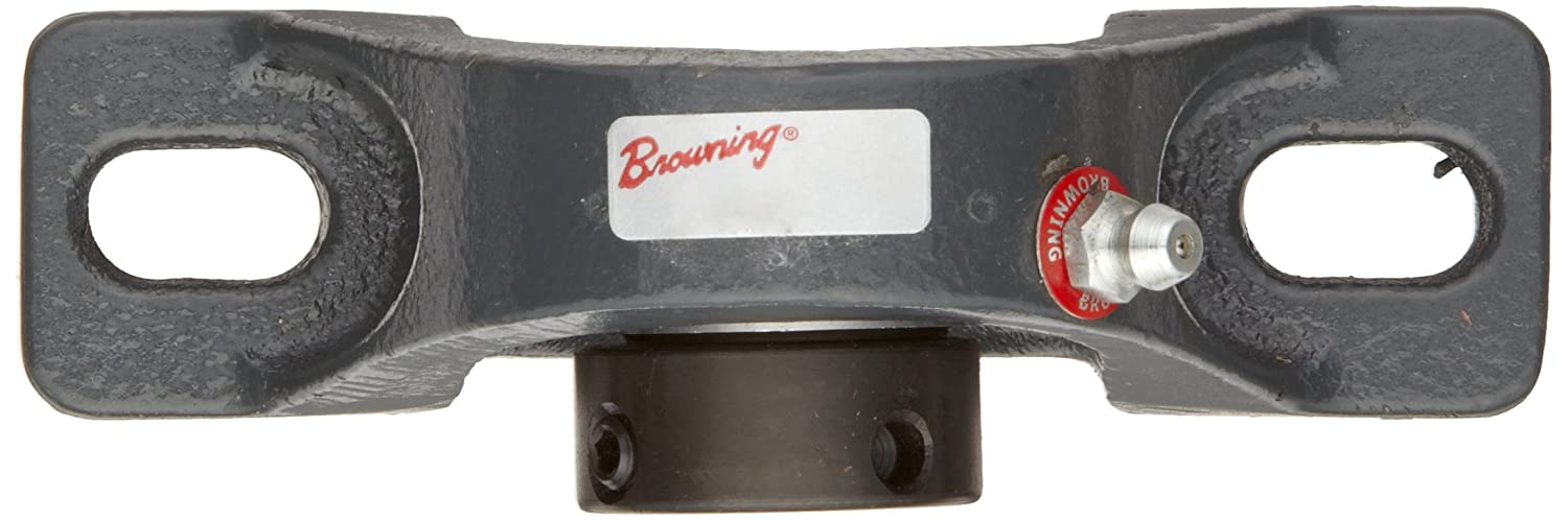 Inch 1-3//16 Bore Browning VPE-119 Pillow Block Ball Bearing Eccentric Lock Cast Iron Contact and Flinger Seal 1-11//16 Base To Center Height 2 Bolt