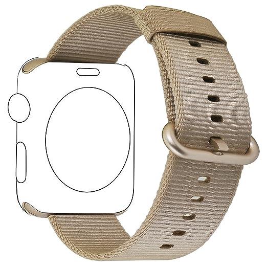 134 opinioni per Cinturino Apple Watch,PUGO TOP Woven Nylon Replacement Wrist Cinturino Bracelet