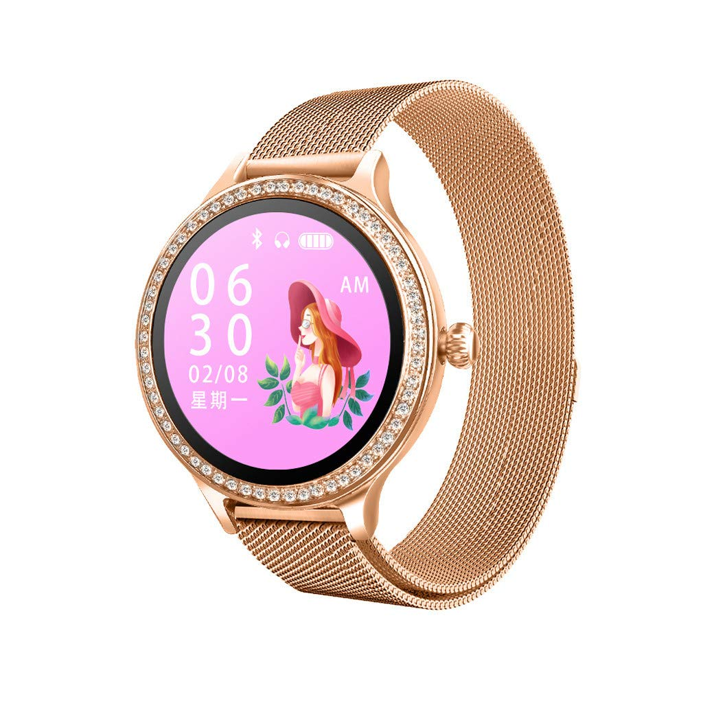 CZYCO Female-Only Luxury Leather Strap M8 Smart Watch Women Heart Rate Monitor Blood Pressure Electric Reminder Watch (A) by CZYCO