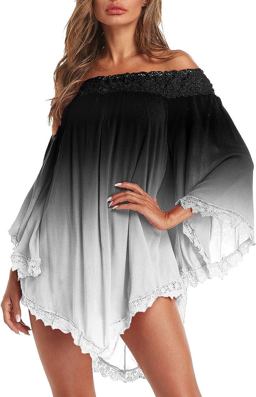 ZANZEA Women Summer Cold Shoulder Shirt Dress Party Beach Solid Loose Mini Dress