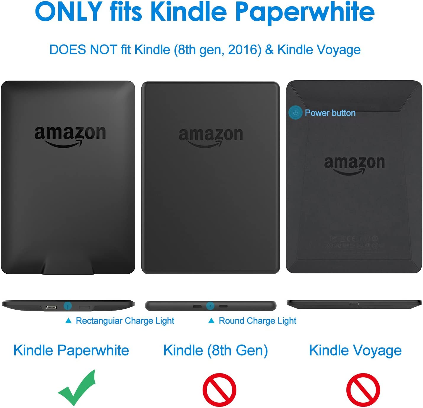 Jetech Funda Amazon Kindle Paperwhite, Se Adapta a Todas Las ...