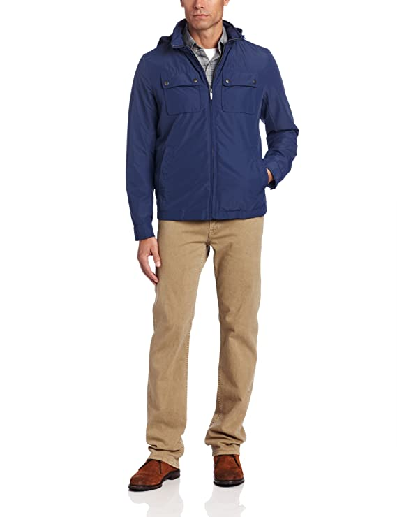 Dockers Mens Four Pocket Military Jacket at Amazon Mens Clothing store: Cotton Lightweight Jackets