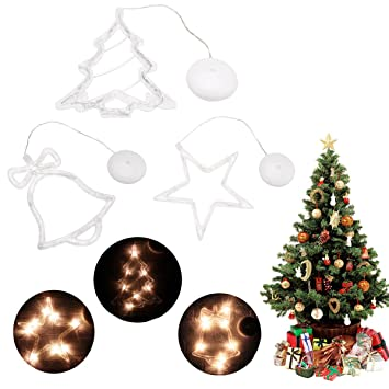 starbellschristmas tree windows hanging light festival party battery operated led sucker fairy