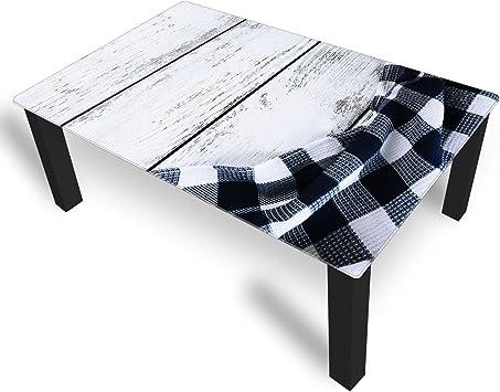 DekoGlas Couchtisch 'Tischdecke Schwarz' Glastisch