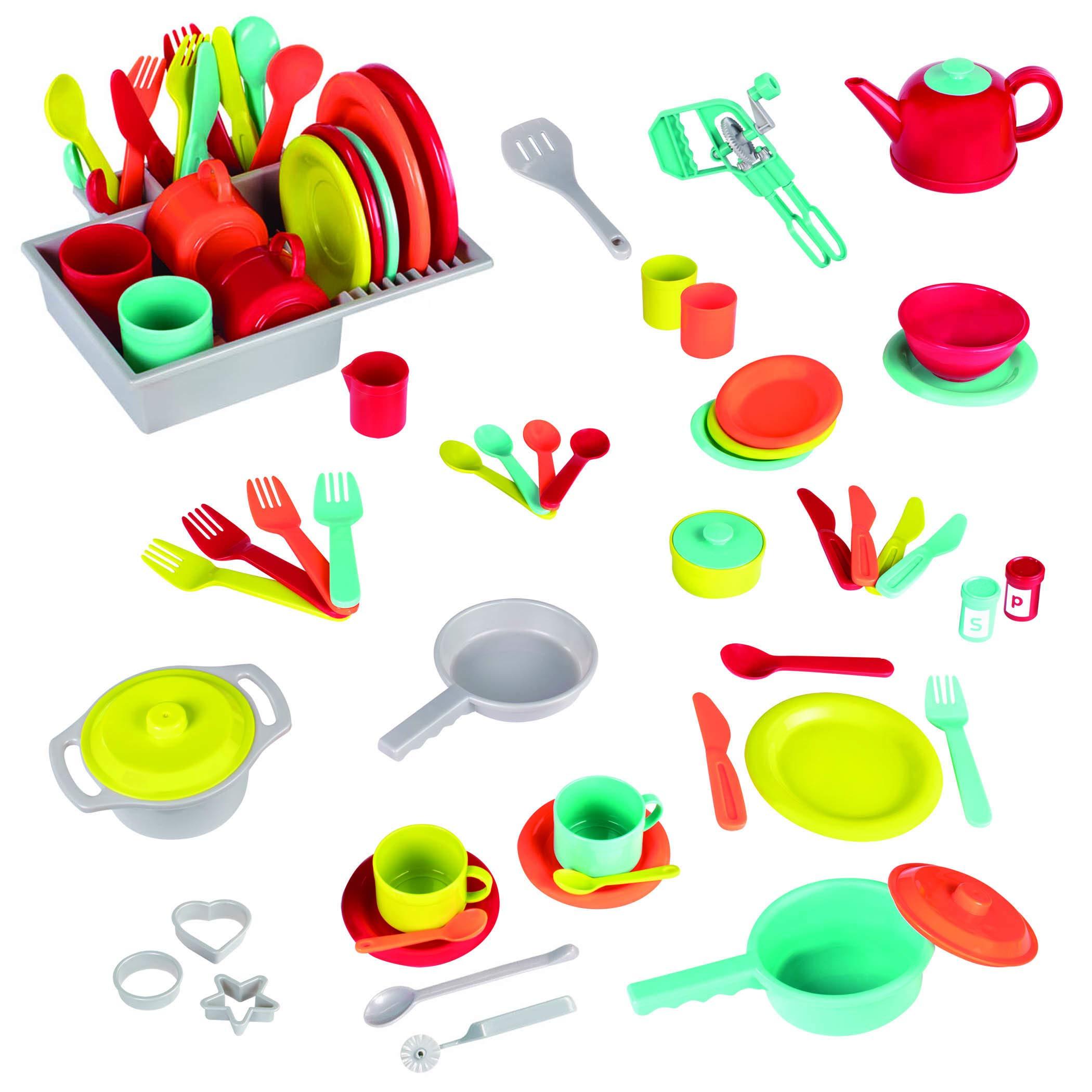Battat - Deluxe Kitchen - Pretend Play Accessory Toy Set (71 Pieces Including Pots & Pans) by Battat