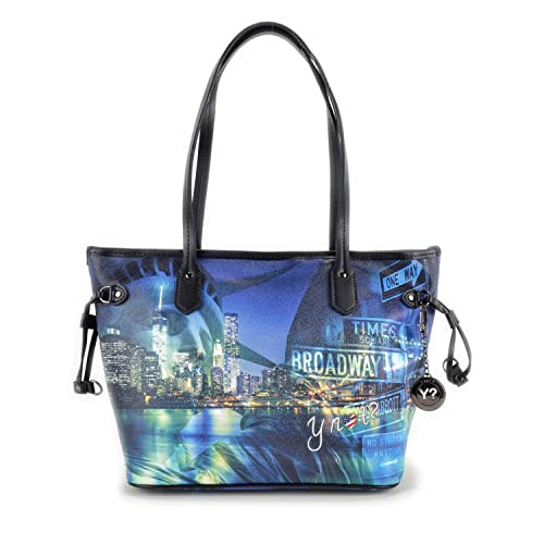 Borsa Y Not stampa Broadway art. 336 misura media  Amazon.it  Scarpe e borse a6338b36676