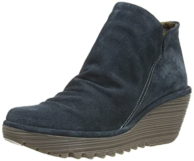 be5bf7ce31cd14 Fly London Yip Anthracite Suede Womens Wedge Ankle Boots-36: Amazon ...