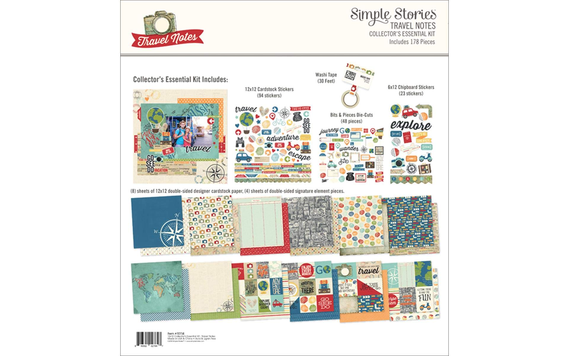 Simple Stories Scrapbook, Multi-Coloured, Large
