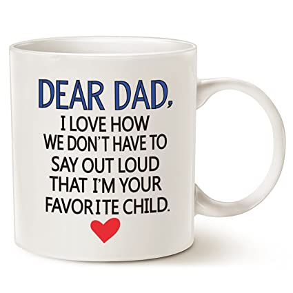 amazon com funny father s day gifts coffee mug for dad dear dad