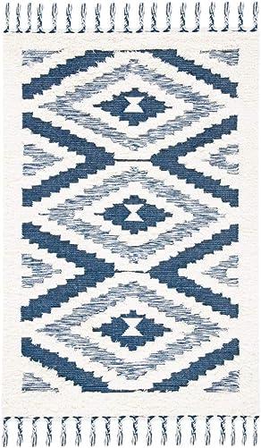 Safavieh Natura Collection NAT682A Handmade Moroccan Boho Tassel Wool Area Rug