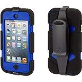 Griffin Black/Blue Survivor All-Terrain Case + Belt Clip for iPod Touch (5th/ 6th gen.) - Extreme-Duty case
