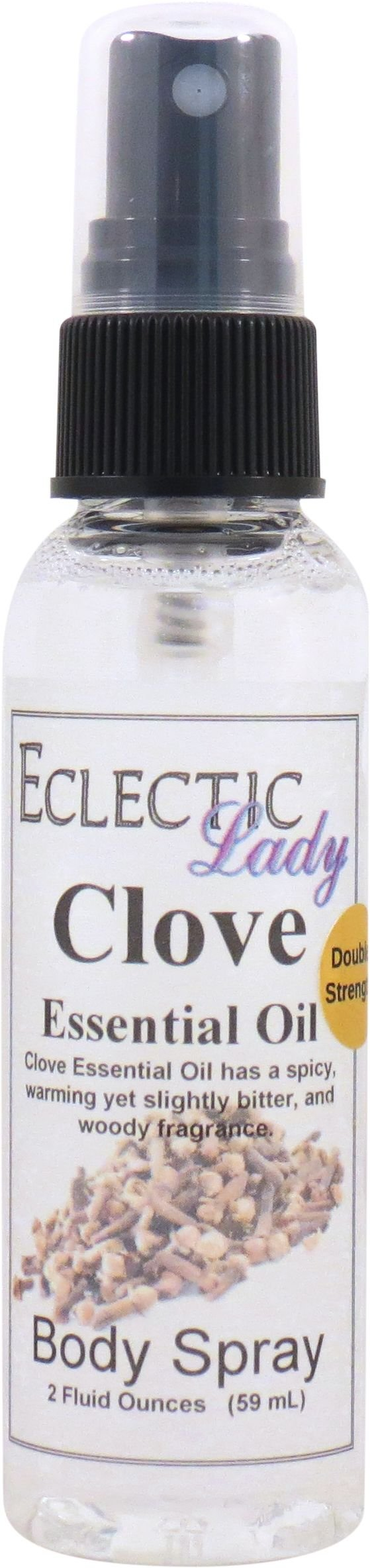 Clove Essential Oil Body Spray (Double Strength), 2 ounces by Eclectic Lady