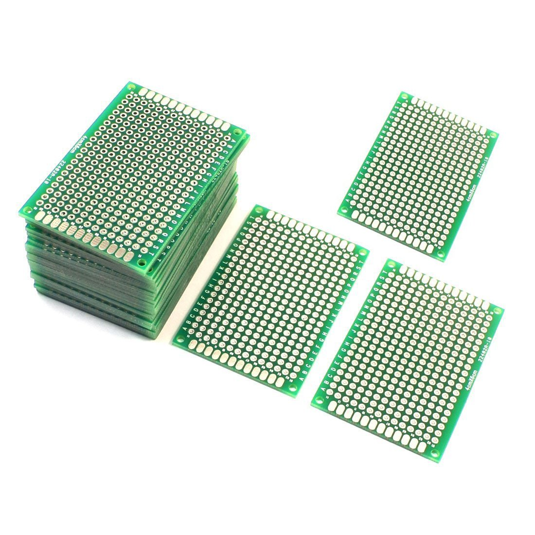 Ellen 20 Pcs 4 X 6 Cm Double Side Diy Prototype Board Pcb Universal Doubleside Printed Circuit Electronics Test