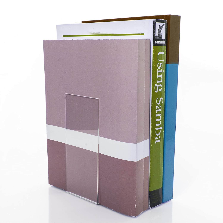 Supporto per libri ECO 10 pz 10 pezzi PLEXIGLAS/® da 7,0 a 8,5 x 14,0 x 14,0 cm per libri piccoli