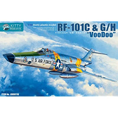 Kitty Hawk KH80116 1:48 RF-101C & G/H Voodoo Static Plastic Model: Toys & Games