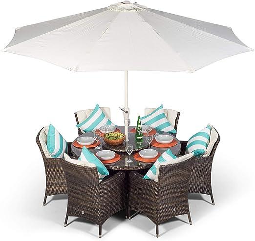 Salon de jardin en rotin Savannah   Ensemble marron table ...