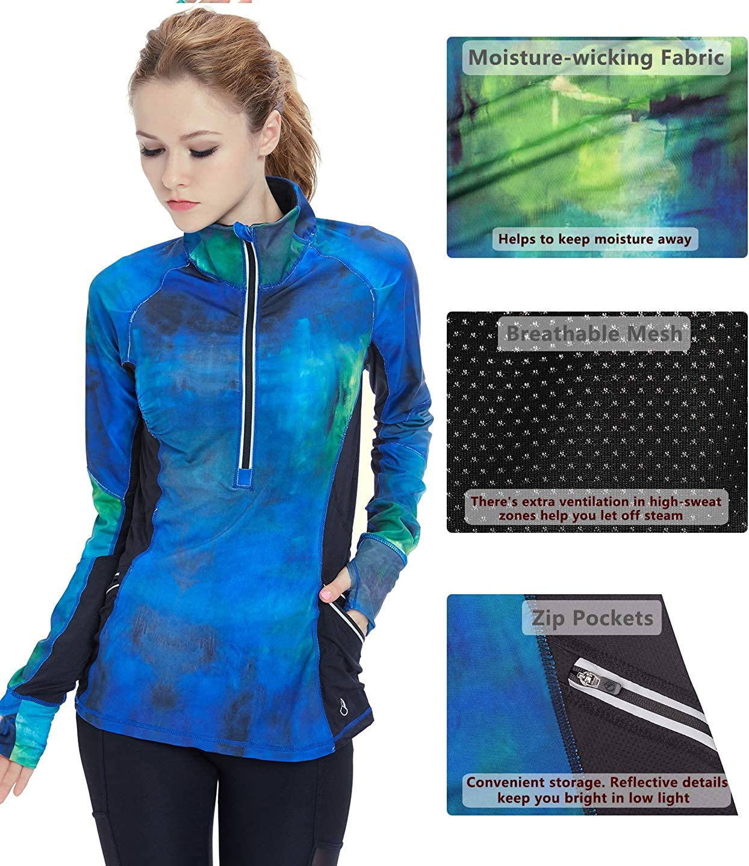 Amazon.com: icyzone chaqueta de entrenamiento para Yoga 1/2 ...