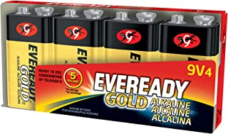 product image for Eveready Gold Alkaline Batteries 9 Volt, Pack of 4