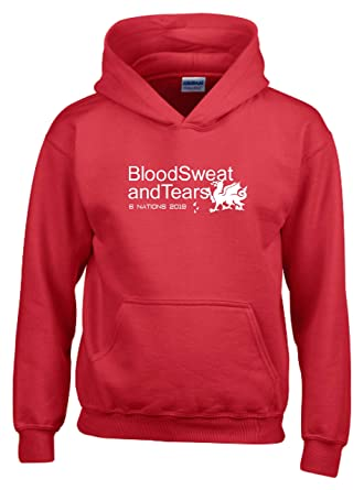 Blood Sweat And Tears Wales Six Nations 2018 Womens Rugby T-Shirt