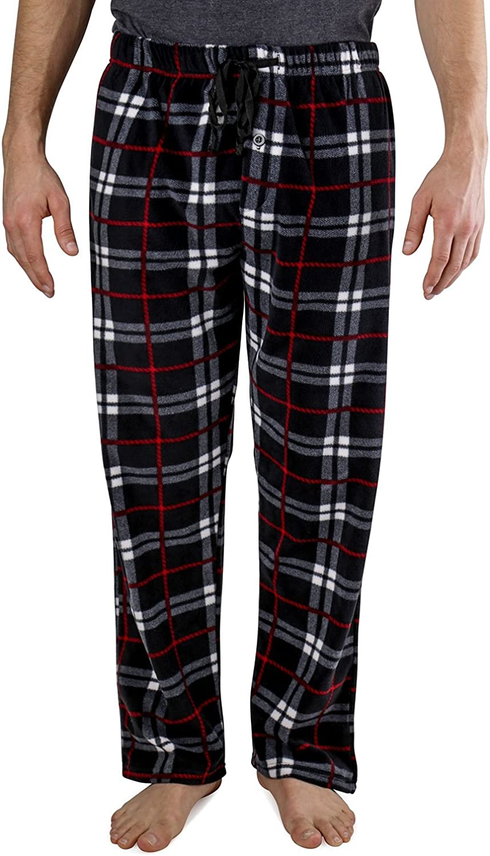 Ice Shield Men's Yarndyed Super Soft Polar Fleece Pajama Bottom Lounge Pants Sizes S / 3XL